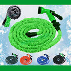 Latex 3X 25 50 75 100FT Expanding Flexible Garden Water Hose with Spray Nozzle