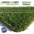 26mm ARIZONA ARTIFICIAL GRASS QUALITY FAKE TURF REALISTIC NATURAL GARDEN LAWN