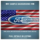 Rear Window Truck Graphic Decal - US American Flag USA Ford - 3 Sizes