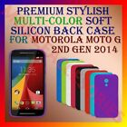 PREMIUM RICH COLOR SOFT SILICON BACK CASE for MOTOROLA MOTO G 2ND GEN 2014 COVER