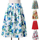 Vintage HIGH WAIST Polka Dots Skirts Sundress Cocktail Party MIDI Pinup SKIRT DQ