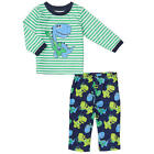 Little Me Boys 2 Piece Striped Long Sleeve Top with Musical Dinosaur Applique &