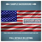 Rear Window Truck Graphic Decal - US American Flag USA - 3 Sizes
