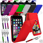 "PU Leather Flip Mobile Phone Case Cover For Apple iPhone 6 4.7"" And Stylus Pen"