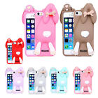 New 3D Cartoon Buck Teeth Rabbit  Silicone Soft Cover Case for iPhone 4 4S 5 5S