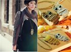 New Fashion Retro silver Cute Long Sweater Chain Necklace Owl With Big Eye owl