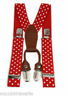 Toddler Red / White Polka Dots Suspenders Ages 2 - 5 Years -  2T 3T 4T