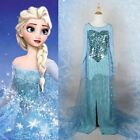 Купить Movie Frozen Snow Queen Elsa Dress Made Cosplay Costume For Adult Fancy Dress с доставкой по россии и снг