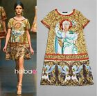 New Season Catwalk Runway Vintage Print Retro Dress