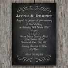 A6 CHALKBOARD STYLE PERSONALISED WEDDING INVITATIONS