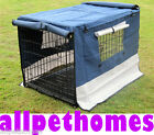 """COLLAPSIBLE DOG CRATE BLUE CANVAS COVER 54"""" (XXXLARGE)"""