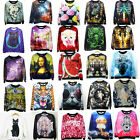 Women Colorful Print Loose Club Pullover Party Hoody Casual Top Hoodie Blouse C