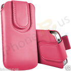 Baby Pink Magnetic PU Leather Pull Tab Flip Case For Various Vodafone Models