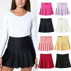 UK Fashion Womens Slim Thin High Waist Pleated Tennis Skirts Mini Dress Playful