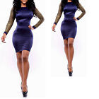 Womens Bandage Clubwear Backless Stretchy Bodycon Cocktail Party Evening Dress