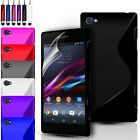 S-Line Gel Case Cover Pouch For Sony Experia Z3 Compact/Mini & Screen Protector