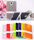 Silicone Gel Hybrid Impact Kickstand Case Cover For Samsung Galaxy Note 4 3 Neo