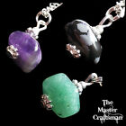 ☆NECKLACE PENDANT EARRINGS JEWELLERY SET CHAIN NATURAL CRYSTAL TUMBLE GEM STONE☆