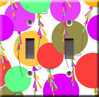 Light Switch Plate Cover - Multi colors balloons - Party happy birthday fiesta