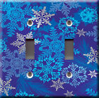 Light Switch Plate Cover - Snowflake swirl - Winter flake cold christmas xmas