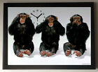 3 Wise Monkeys A4 Picture Clock