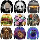 New Womens Mens T shirt sweater 3D realistic Space Cat Galaxy hoodie Sweatshirt