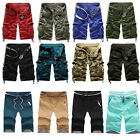 Fashion Men Casual Camouflage Cargo Camo Combat Work Sport Shorts Pants Trousers