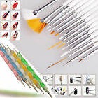 20pcs Nail Art Design Sets Dotting Painting Drawing Polish Brush Pen Tools