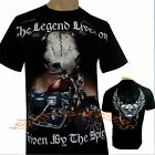 Biker Motorbike Motorcycle Skull Tattoo Legend Lives On T Shirt
