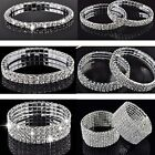 Crystal Rhinestone Stretch Bracelet Bangle Wedding Bridal Wristband Lady Gift