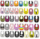 Baby Toddlers Feeding Bibs (Cool /Skull /Tie /Leopard /Zebra /Stars /Super /Bee)