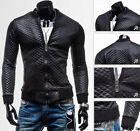 Premium Luxury New Winter Men's PU Leather Jacket Coat Motor Locomotive Tops Tee