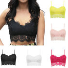 Sexy Womens Ladies Lace Strappy Eyelash Vest Bralet Bra Crop Top Party Going Out