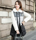 2014 New Slim Long Womens Lattice Assorted Colors Duck Down Coat Real Fur Jacket