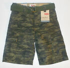 Levi's Boys Camouflage Belted Cargo Shorts Sizes 6, 7 and 7X NWT