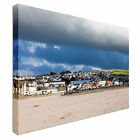 The Village of Perranporth Cornwall UK Canvas Art Cheap Wall Print Home Interior
