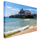 Bournemouth Beach Pier Dorset England Canvas Art Cheap Wall Print Home Interior
