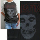 Junk Food The Misfits Logo t-shirt Baseball Style American Raglan Sleev NEW SALE