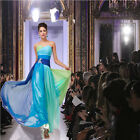 FASHION WEEK Sexy Chiffon Long Evening Dresses Party Bridesmaid Wedding Cocktail