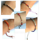 Nakamol Single Wrap Seed Beads Bracelet Adjustable by Cord 5 colors NEW SALE