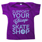 Support Your Chicago Skate Shop Baby Tee - Skater Infant T-shirt - NB to 18M NEW