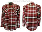 NEW MENS Wrangler RELAXED FIT CASUAL CHECK COTTON FLANNEL SHIRT sz S - XXXL RED