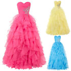 2015 Quinceanera New Sexy Formal Prom Party Ball Gown Wedding Long Evening dress