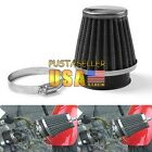 US Universal Motorcycle Chrome Cone Power Scooter Cone race Intake Air Filter