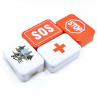 SOS Tin Box Lid Container for Survival Gear Kits Set First Aid Pill Storage Case