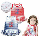 Baby Girl Dress Sailor Outfit, Stripe Casual Everyday Dress
