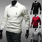 Men Casual Slim Fit Crewneck Knitted Cardigan Pullover Jumper Xmas Sweater Tops