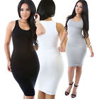 Ladies Miracle Bodycon Dress Lined Thick Shoulder Straps Pencil Dress Sleeveless