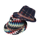 Hot Colorful Cute Kids Girls Boys Wool Fedora Hat Winter Warm Trilby Panama Cap
