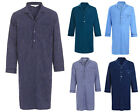 Mens 100% Cotton Nightshirts Night Shirt Stripe Check Blue White Navy M L XL 2XL